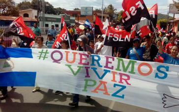 Demonstration von Regierungsanhängern für den Frieden (Masaya, Nicaragua, 11. Juli)