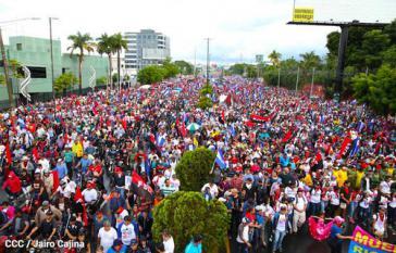 Anhänger der Regierung Ortega in Nicaragua