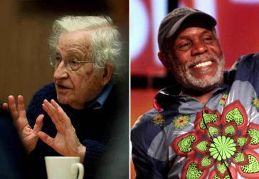 Noam Chomsky (links) und Danny Glover sind die Erstunterzeichner eines offenen Briefes, der das Ende der Sanktionen gegen Venezuela fordert (Kollage)