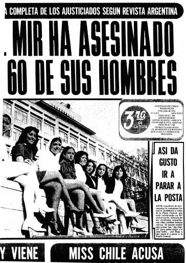 """""""MIR hat 60 seiner Leute getötet"""": vermeldete damals die Zeitung El Mercurio im Auftrag der DINA"""