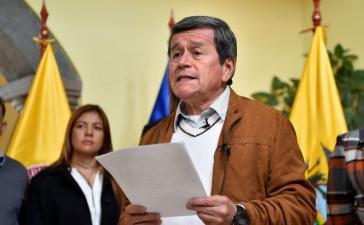Pablo Beltrán, Chefunterhändler der ELN bei den Friedensverhandlungen mit der Regierung von Kolumbien in Kuba