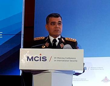 Venezuelas Verteidigungsminister Vladimir Padrino López bei der 7. Internationalen Sicherheitskonferenz in Moskau