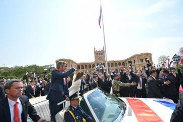 Der neue Präsident von Paraguay, Mario Abdo Benítez, nach der Amtseinführung am 15. August