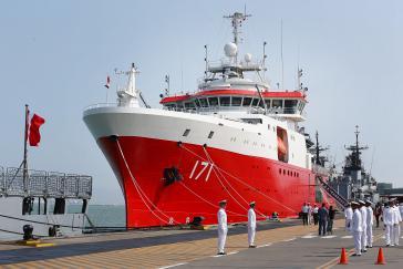 """Neues Antarktis-Forschungsschiff von Peru, die """"BAP Carrasco"""""""