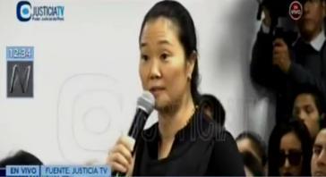 Keiko Fujimori wies bei der Anhörung vor Gericht am Mittwoch alle Vorwürfe zurück