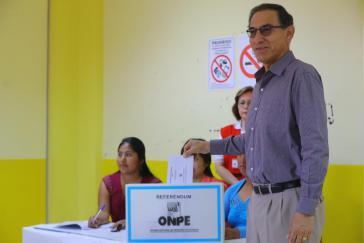 Perus Präsident Vizcarra bei der Volksabstimmung am Sonntag