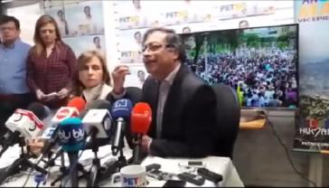 Gustavo Petro warnte bei Pressekonferenz vor Wahlbetrug in Kolumbien bei den morgigen Präsidentschaftswahlen