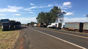 Der Streik der Lkw-Fahrer hat sich im Laufe der Woche beruhigt, Blockaden wurden nach und nach geräumt