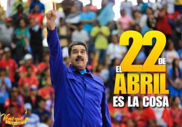 Nicolás Maduro kandidiert bei den Präsidentschaftswahlen am 22. April in Venezuela. Die Opposition hat noch keinen Kandidaten bestimmt