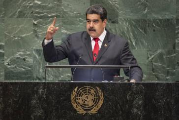 Venezuelas Präsident Maduro bei seiner Rede vor der Generalversammlung der UNO am Mittwoch