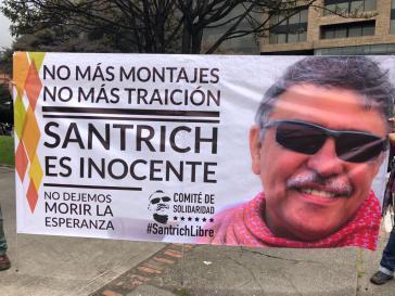 """Transparent gegen Verhaftung von Jésus Santrich in Kolumbien. """"Keine Täuschungen mehr - kein Verrat mehr - Santrich ist unschuldig - Wir lassen die Hoffnung nicht sterben"""""""