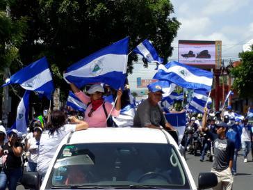 Tausende gingen auch gegen die Regierung Ortega auf die Straße und beteiligten sich am Generalstreik