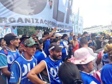 Großdemonstration in Argentinien gegen die Wirtschafts- und Sozialpolitik der Macri-Regierung