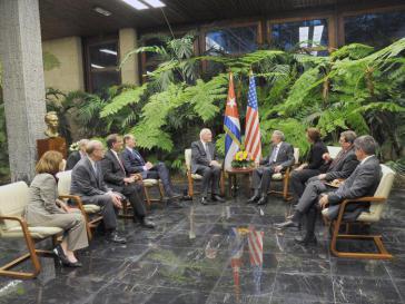 Die Delegation des US-Kongresses traf auch mit Kubas Staats- und Regierungschef Raúl Castro zusammen
