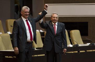 Diaz Canel und Raúl Castro