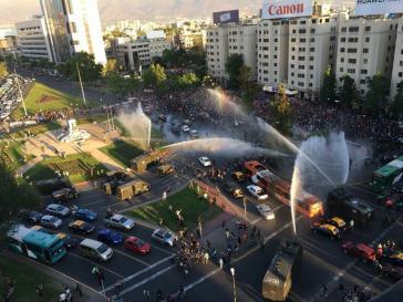 Repression gegen Demonstration in Santiago