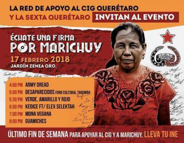 Aufruf zur Unterschrift für die Präsidentschaftskandidatur von Marichuy in Mexiko