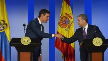 In Bogotá beim kolumbianischen Präsidenten Ivan Duque standen vor allem die Themen Venezuela und die Friedensverhandlungen mit der ELN im Mittelpunkt