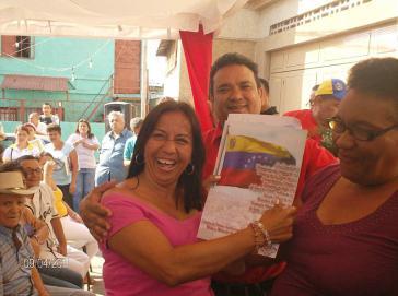 191 Landtitelübergaben im Barrio 23 de Enero im April 2011, noch unbeschwert von der aktuellen Krise in Venezuela