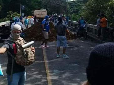 Straßensperre in Trinidad, Nicaragua