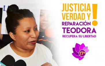 Nach über zehn Jahren frei: Teodora del Carmen Vásquez. Unterstützergruppen fordern nun Entschädigung und die Aufhebung des Urteils