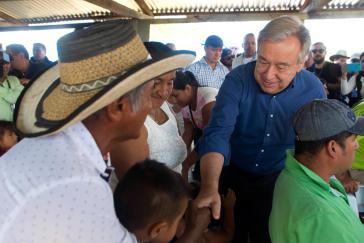 UN-Generalsekretär António Guterres in Mesetas im Departamento Meta von Kolumbien