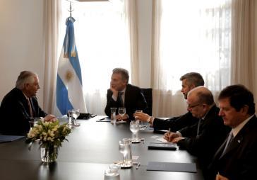 """Argentiniens Präsident Mauricio Macri empfing Tillerson zu einem Gespräch """"hinter verschlossener Tür"""""""
