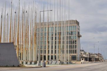 Die US-Botschaft in Havanna, Kuba
