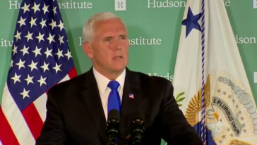 US-Vizepräsident Mike Pence bei seiner China-Rede im Hudson Institute in Washington