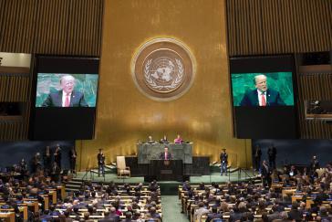 In seiner Rede vor der UN-Vollversammlung betonte US-Präsident Trump die Gültigkeit der Monroe-Doktrin