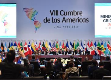 """Auf dem """"Amerika-Gipfel"""" in Lima, Peru, ging es vor allem um Venezuela"""