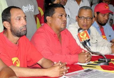 Luis Fajardo (Bildmitte) und sein Schwager Javier Aldana, Bauernaktivisten und Kommunisten, sind in Venezuela ermordet worden