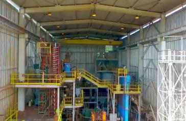 Ein Teil der neuen Coltan-Verarbeitungsanlage in Venezuela, die vergangene Woche in Betrieb genommen wurde (Screenshot