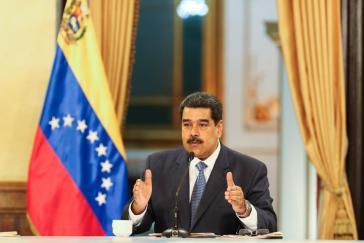 """In einer landesweit übertragenen Ansprache gab Venezuelas Präsident """"Korrekturen"""" am Konjunkturprogramm  bekannt"""