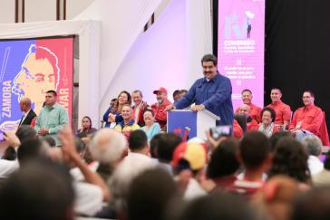 Am Montag vom Abschlussplenum als Parteivorsitzender bestätigt: Venezuelas Präsident Nicolás Maduro. Er wurde zudem ermächtigt, den gesamten Vorstand zu besetzen