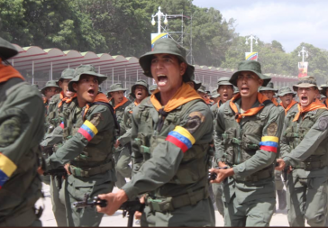 Soldaten in Venezuela. Verschwörer in ihren Reihen sind im Mai offenbar aufgeflogen