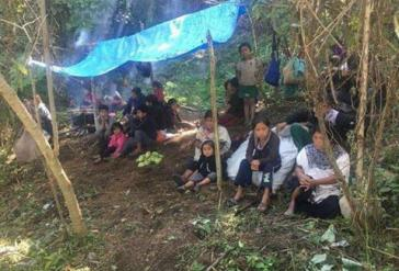 Vertriebene Tzolzil-Indigene in Chiapas, Mexiko