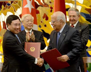 Beide Seiten vereinbarten auch die Streichung der kubanischen Schulden bei Vietnam