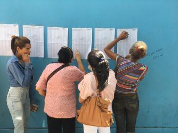 Vor einem Wahllokal in Venezuela am 20. Mai
