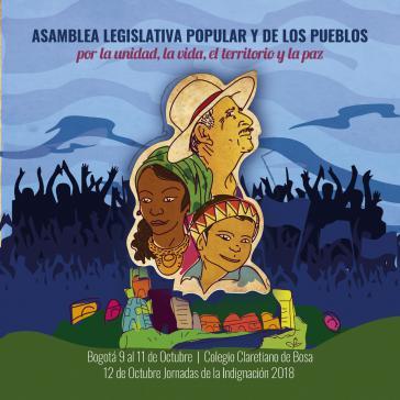 Das Logo der Asamblea in Bogotá