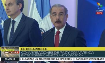 Sichtlich konsterniert: Spaniens Ex-Ministerpräsident Zapatero (links) und der Präsident der Dominikanischen Republik, Medina, bei der Pressekonferenz am Mittwoch