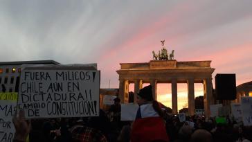 Mehr als 1.000 Menschen bei Chile Solidarität am Sonntag in Berlin