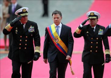 Juan Manuel Santos bei Amtseinführung 2010