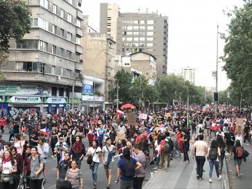 Protest gegen die Regierung von Sebastián Piñera in Chile