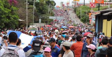 Tausende Honduraner protestieren in Tegucigalpa