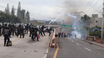 Gewaltsame Zusammenstöße zwischen Polizei und Protestierenden in Tegucigalpa