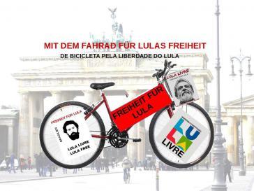 Fahrrad-Demo für Lula