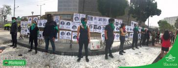Das Kollektiv Surkuna ist Teil der Protestierenden für legale Abtreibung