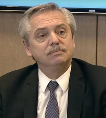 Der Präsidenschaftskandidat Fernández liegt in Umfragen vorne