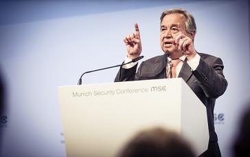 UN-Generalsekretär Antonio Guterres (hier bei der Münchener Sicherheitskonferenz 2018)